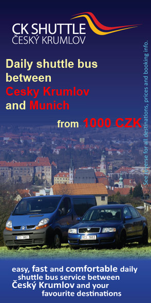 CK Shuttle - daily shuttle bus between Cesky Krumlov and Munich from 1000 CZK per person